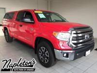 2016 Toyota Tundra in Radiant Red, 4WD, Graphite Cloth.