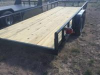 "NEW UNUSED 2016 ""CROSS"" brand utility trailer. 20'"