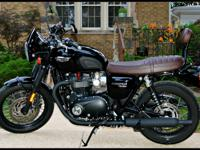 2016 Triumph T120 Black, 2545 miles, ABS, Traction