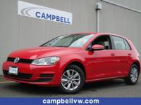 Golf S 4Door Manual. Volkswagen Certified Pre-Owned