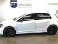 THIS GORGEOUS ONYX WHITE GOLF R FEATURES A 292HP 2.0L