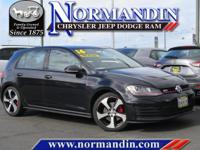 **ONE OWNER** and **CLEAN TITLE HISTORY**. Golf GTI S,