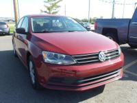 Red 2016 Volkswagen Jetta 1.4T S FWD 6-Speed Automatic