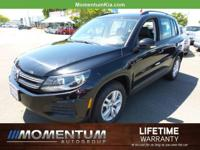 Options:  2016 Volkswagen Tiguan S|Deep Black