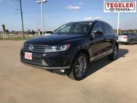 Black 2016 Volkswagen Touareg VR6 FSI AWD 8-Speed