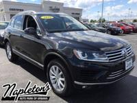 Recent Arrival! 2016 Volkswagen Touareg in Black, AUX