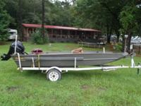 2016 Weldbuilt 15ft Flat Bottom 20hp Tohatsu Four