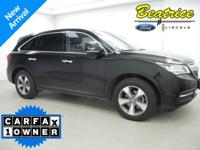 CARFAX One-Owner. MDX 3.5L w/AcuraWatch Plus Pkg,