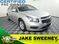 Meet our GM Certified 2016 Chevrolet Cruze Limited.