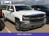 Clean CARFAX. Summit White 2016 Chevrolet Silverado