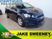 Meet our GM Certified 2016 Chevrolet Sonic LS. This