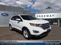 Oxford White 2016 Ford Edge SEL 6-Speed Automatic