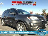 This 2016 Ford Explorer 4dr FWD 4dr XLT features a 3.5L