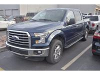 CARFAX One-Owner. Blue 2016 Ford F-150 XLT 4WD 6-Speed
