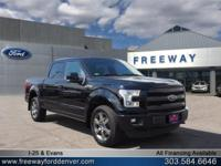 Shadow Black 2016 Ford F-150 Lariat 5.0L V8 FFV 4WD