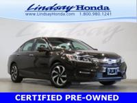 Certified. Kona Coffee Metallic 2016 Honda Accord EX-L