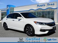 This Diamond White 2016 Honda Accord EX-L w/Navigation