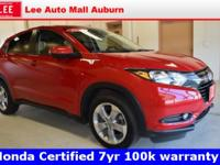 2016 Honda HR-V EX Red Bluetooth, Hands free calling,