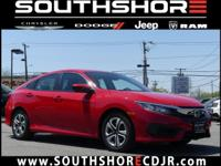 CARFAX One-Owner. 2016 Honda Civic LX Red 41/31