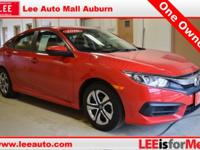 2016 Honda Civic LX Red Bluetooth, Hands free calling,