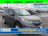 Honda Certified! Features: AWD, Leather, Backup Camera,