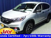 Options:  2016 Honda Cr-V Se|Silver|Smart Buy!  Don't