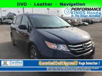 Honda Certified! Features: DVD, Leather, Navigation,