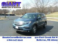 This outstanding example of a 2016 Honda Pilot EX-L AWD