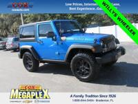 This 2016 Jeep Wrangler Willys Wheeler Sport in Hydro