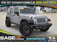 CARFAX One-Owner. Clean CARFAX. Gray 2016 Jeep Wrangler