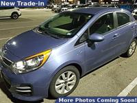CARFAX One-Owner. urban blue pearl metallic 2016 Kia