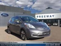 Gun Metallic 2016 Nissan Leaf SV FWD Single Speed