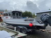 27' North River Seahawk Offshore boat with