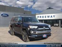 Midnight Black Metallic 2016 Toyota 4Runner Limited 4WD