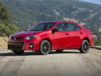 2016 Toyota Corolla S in Black custom features