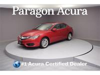 Local Trade-In! Certified. 2017 Acura ILX 2.4L CARFAX