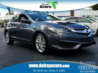 Clean CARFAX. Certified. Gray 2017 Acura ILX Premium