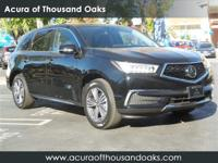Options:  2017 Acura Mdx Base|Black/|V6 3.5 L
