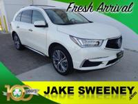 Our One Owner 2017 Acura MDX SH-AWD with the Technology