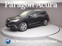 New Price! Certified. 2017 Acura MDX 3.5L CARFAX