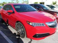 TLX 2.4L w/Technology Package and San Marino Red. Fuel