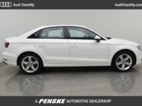 2017 AUDI A3 2.0T 1 OWNER CARFAX CERTIFIED PREOWNED