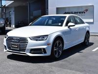 New Arrival! LOW MILES, This 2017 Audi A4 Premium Plus