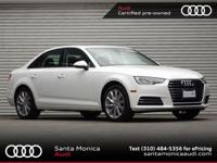 AUDI CERTIFIED! 2017 Audi A4 2.0t Ibis White with Black