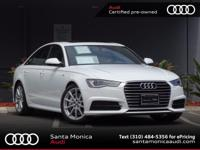AUDI CERTIFIED! 2017 Audi A6 Ibis White with Black
