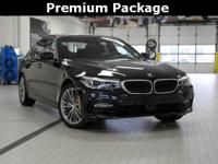 2017 BMW 5 Series 2.0L 4-Cylinder 530i Black Sapphire