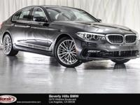 This 2017 BMW 530i has a Clean Carfax, Dark Graphite