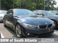 Midnight Blue Metallic 2017 BMW 4 Series 430i Gran