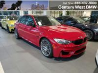 2017 M3 SEDAN!! COMPETITION PACKAGE! IMOLA RED OVER