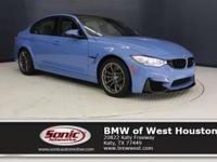 This 2017 BMW M3 is a One Owner vehicle with a